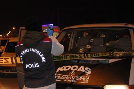Konya'da iki kişi sokak ortasında öldürüldü galerisi resim 3