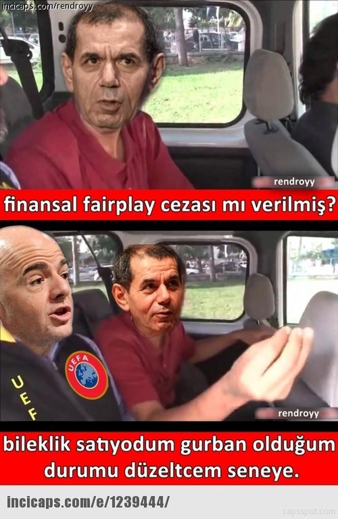Galatasaray UEFA'dan ceza alınca capsler patladı galerisi resim 4