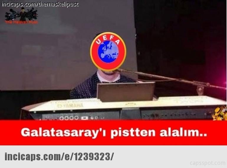 Galatasaray UEFA'dan ceza alınca capsler patladı galerisi resim 6