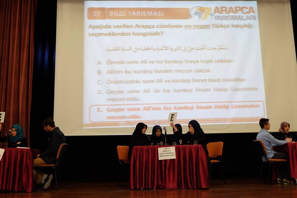 7. Arapça Yarışmaları Konya 2. Bölge finali Yapıldı galerisi resim 9
