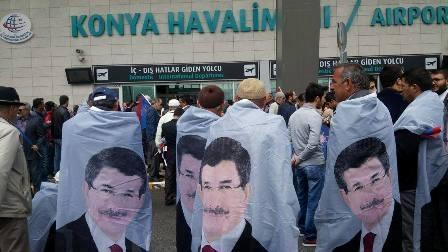 Konya'da Davutoğlu'na büyük karşılama galerisi resim 15