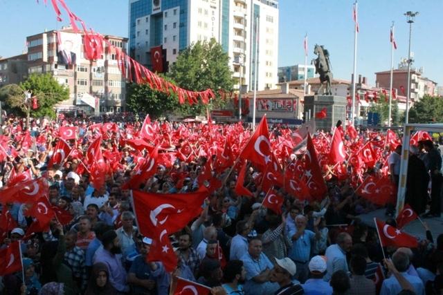 Konya'da darbe girşimine tepkiler galerisi resim 24