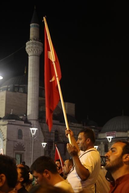 Konya'da darbe girşimine tepkiler galerisi resim 46