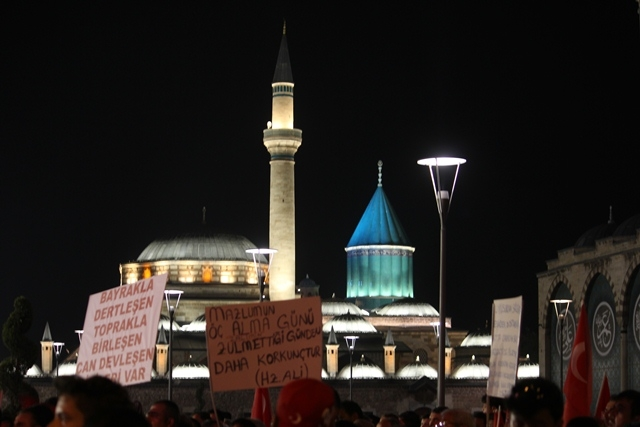 Konya'da darbe girşimine tepkiler galerisi resim 52