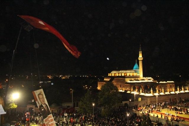 Konya'da demokrasi nöbeti galerisi resim 18