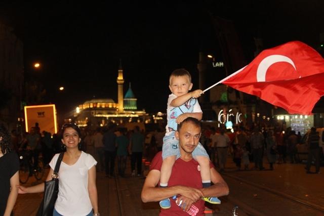 Konya'da demokrasi nöbeti galerisi resim 23