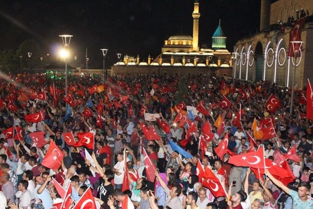 Konya'da demokrasi nöbeti galerisi resim 45