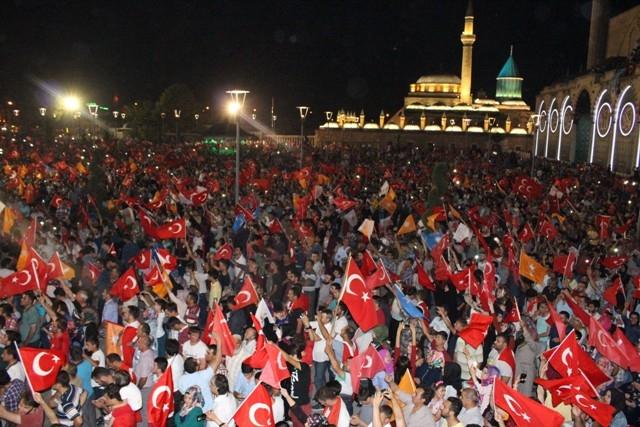 Konya'da demokrasi nöbeti galerisi resim 46