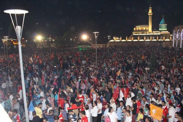 Konya'da demokrasi nöbeti galerisi resim 48