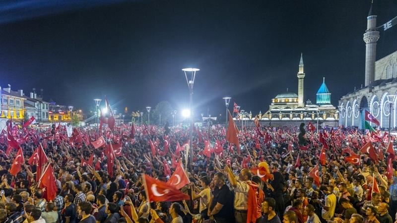 """Cumhurbaşkanı Erdoğan Konya """"demokrasi bekçileri""""ne seslendi galerisi resim 2"""