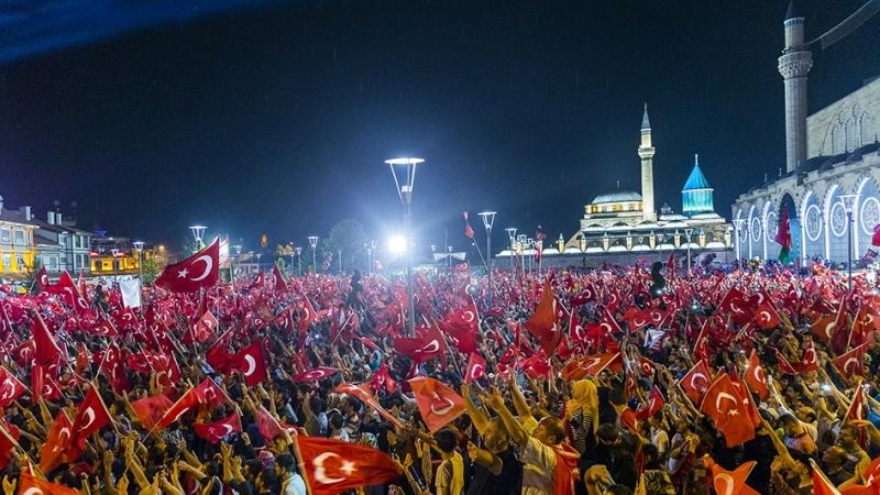"""Cumhurbaşkanı Erdoğan Konya """"demokrasi bekçileri""""ne seslendi galerisi resim 6"""