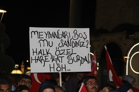 Konya'da Darbe Karşıtı Pankartlar galerisi resim 3