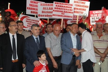 Konya'da Darbe Karşıtı Pankartlar galerisi resim 5