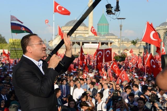 "Konya'da ""Demokrasi ve Şehitler Mitingi"" galerisi resim 6"