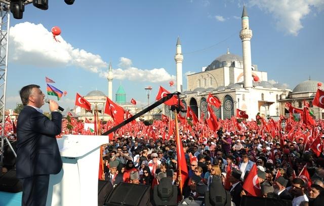 "Konya'da ""Demokrasi ve Şehitler Mitingi"" galerisi resim 7"
