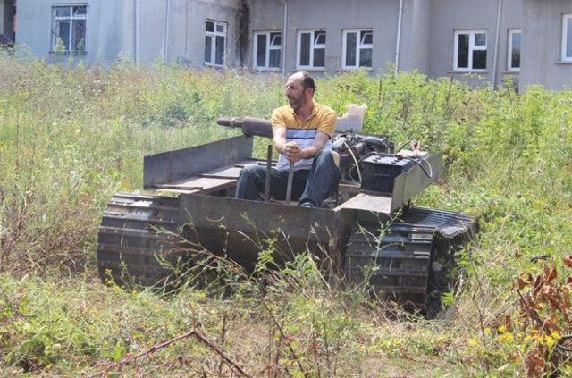Darbecilere kızdı tank yaptı galerisi resim 2