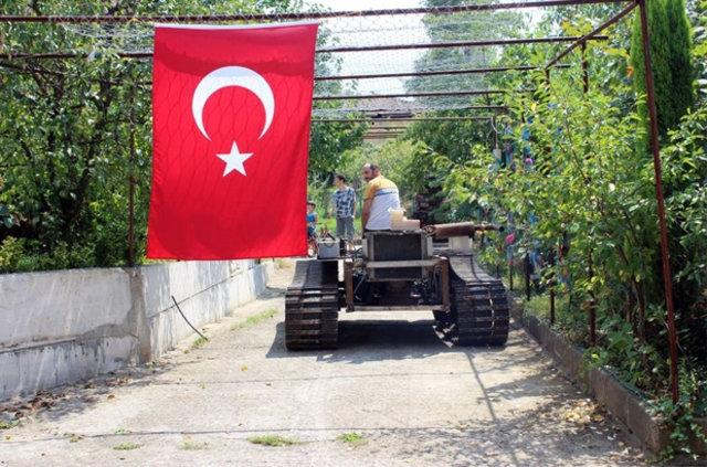 Darbecilere kızdı tank yaptı galerisi resim 5