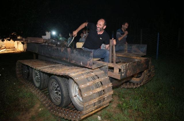 Darbecilere kızdı tank yaptı galerisi resim 9