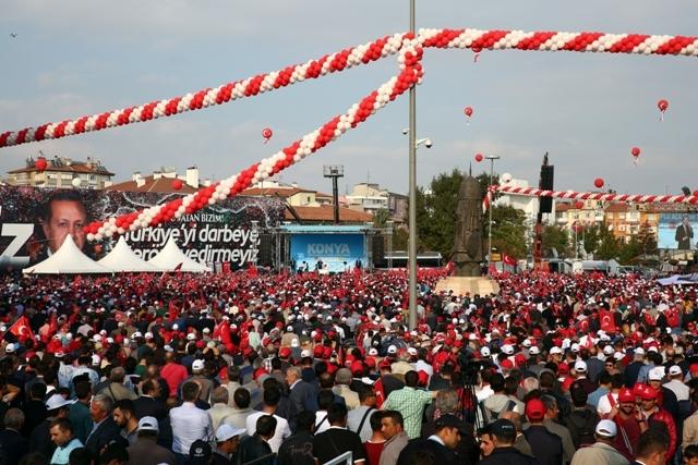 Konya'dan Erdoğan'a sevgi seli galerisi resim 66