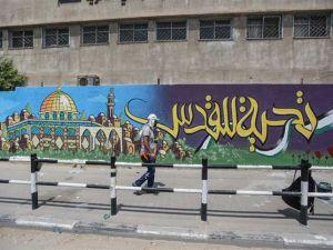 Duvar resimleriyle Mescid-i Aksa'ya destek mesajı