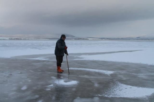 Aktaş Gölü dondu: Termometreler -17'yi gördü galerisi resim 1