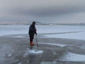 Aktaş Gölü dondu: Termometreler -17'yi gördü