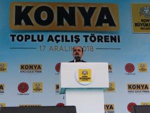 Erdoğan Konya'da toplu açılış töreninde konuştu