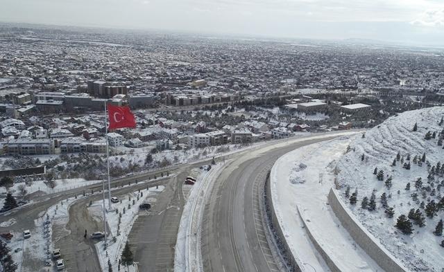 Konya'da kar yerini ayaza bıraktı galerisi resim 10