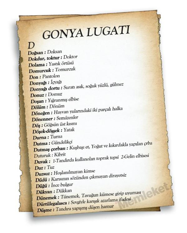 Gonya'nın lugatı galerisi resim 19