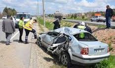 Ankarada Trafik Kazası: 1 Ölü, 1 Yaralı