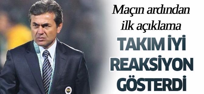 Torku Konyaspor Teknik Direktörü Kocaman: Takım iyi reaksiyon gösterdi