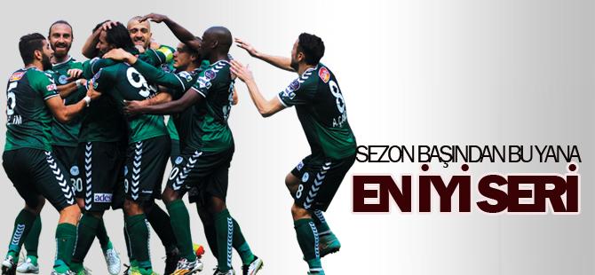 Torku Konyaspor'da en iyi seri