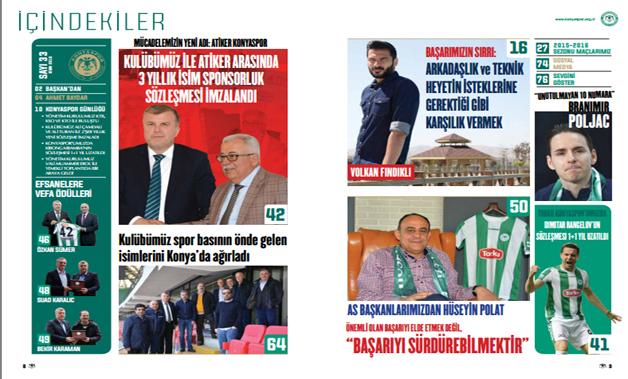 Konyaspor Dergisi'nin 33.sayısı çıktı