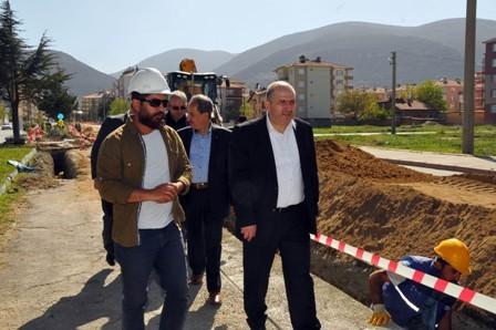 Akşehir'de doğalgaz çalışmaları