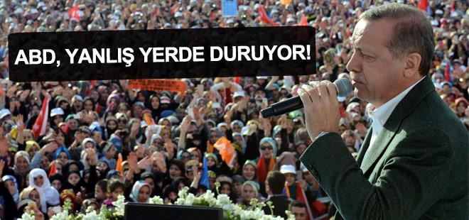 Cumhurbaşkanı Erdoğan: ABD yanlış yerde duruyor