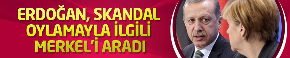 Erdoğan, skandal oylamayla ilgili Merkel'i aradı