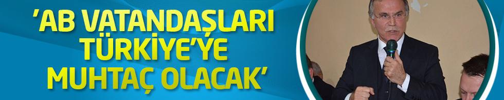 'AB vatandaşları Türkiye'ye muhtaç olacak'