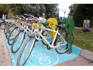 Avanos'a bisiklet istasyonu kuruldu