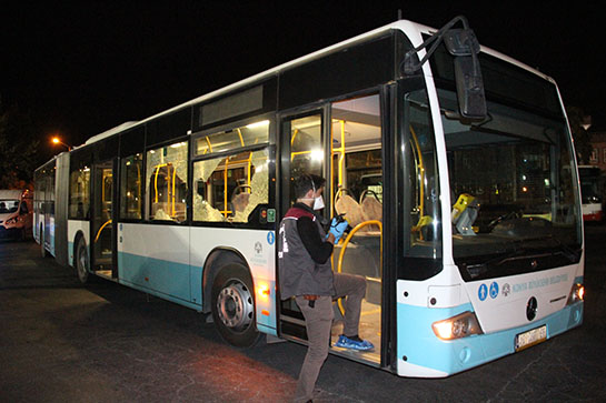 Konya'da otobüs şoförü bıçaklandı