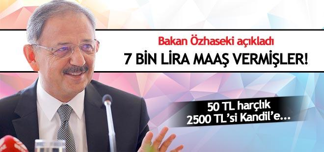 Bakan açıkladı: 7 bin lira maaş vermişler!
