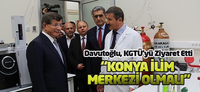Davutoğlu, KGTÜ'yü Ziyaret Etti