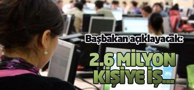 Başbakan açıklayacak: 2.6 milyon kişiye iş...