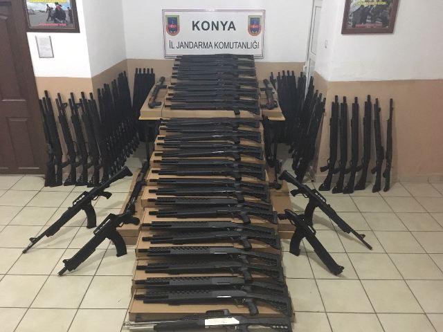 Yasa dışı 84 av tüfeği ele geçirildi