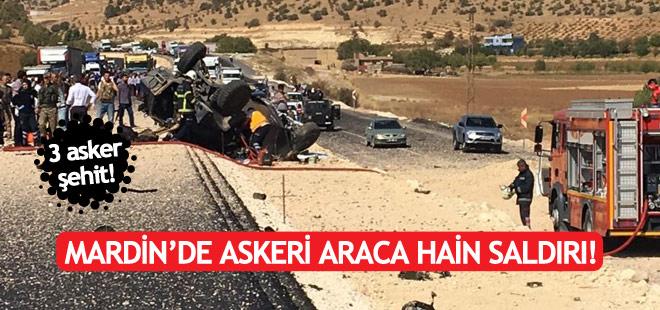 Askeri araca bombalı saldırı: 3 şehit!