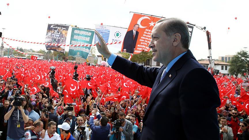 Cumhurbaşkanı Erdoğan, Konya'da konuştu