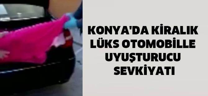 Konya'da Kiralık Lüks Otomobille Uyuşturucu Sevkiyatı
