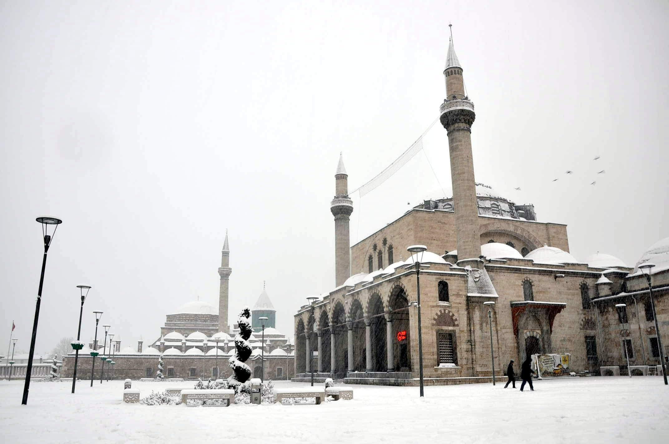 Konya'da eğitime kar tatili...