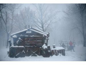 Kartepe'de kar yağışı