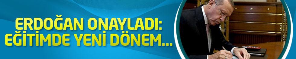 Cumhurbaşkanı Erdoğan, Milli Eğitim Bakanlığı'nın KHK'sını onayladı