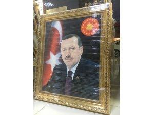 Azeri Ressam'dan Erdoğan portesi